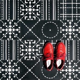 Check cement Tile Beige Maison Bahya