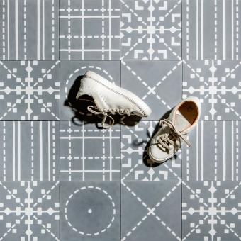 Kross cement Tile Beige Maison Bahya