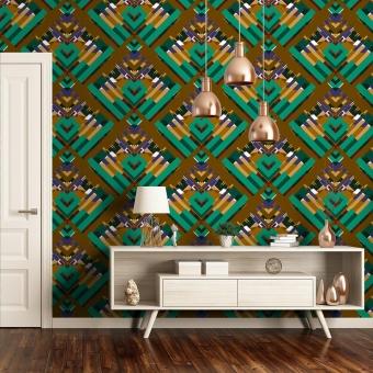 Amouracherie Wallpaper Tropical Coralie Prévert