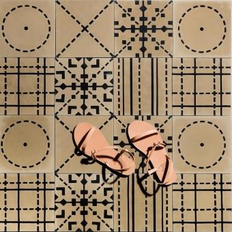 Kasuti 2 cement Tile Beige Maison Bahya