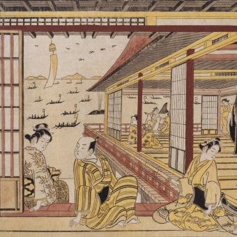 Pêche à Futami Panel Mimosa Etoffe.com x Agence Musées Nationaux