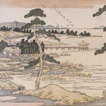 Oies de Katada Panel Paysage Etoffe.com x Agence Musées Nationaux