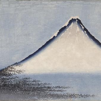 Fuji Bleu Panel Bleu Etoffe.com x Agence Musées Nationaux