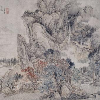 Forêt Givrée Panel Givré Etoffe.com x Agence Musées Nationaux