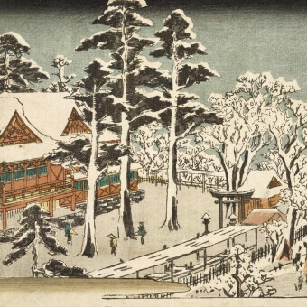 Temple Kunda Myôin Panel Neige Etoffe.com x Agence Musées Nationaux