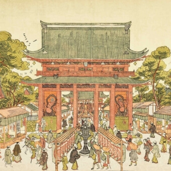 Temple Kinryusan Panel Paysage Etoffe.com x Agence Musées Nationaux