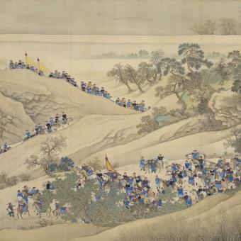 Voyage de l'Empereur Panel Paysage Etoffe.com x Agence Musées Nationaux