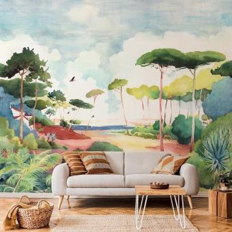 Forêt Panel 150x330 cm - 3 lés - côté droit Isidore Leroy