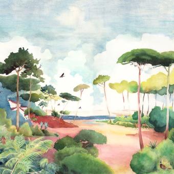 Panneau Forêt 150x330 cm - 3 lés - côté droit Isidore Leroy