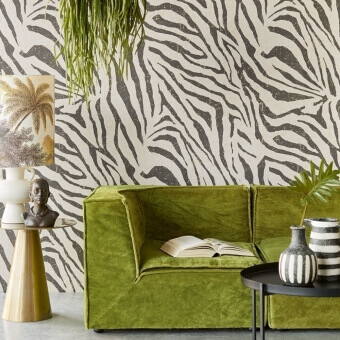 Zebra Skin Panel Black Eijffinger