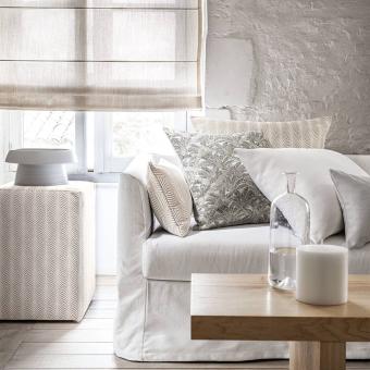 Pigna Outdoor Fabric Blanc Petale / Acier Casamance