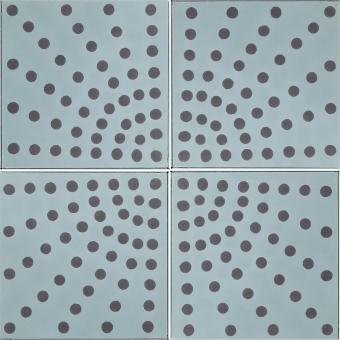 Éventail cement Tile Aqua Maison Bahya