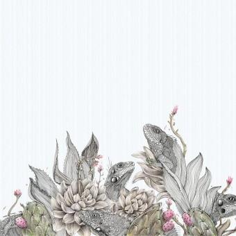Panneau Iguanas Monochrome Inkiostro Bianco