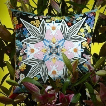 Flowers Galaxy Cushion Multicolore Christian Lacroix