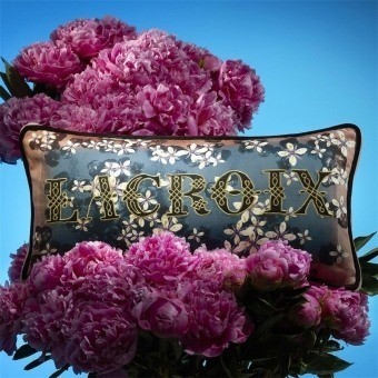 Lacroix Cherry! Cushion Bleu Denim Christian Lacroix