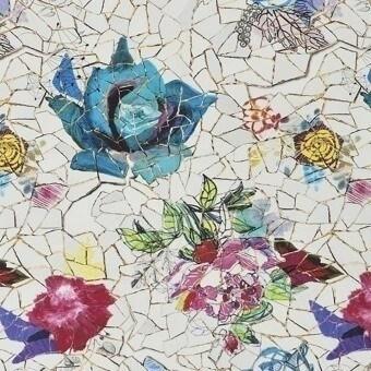 Éclats de Roses Fabric Nacre Christian Lacroix