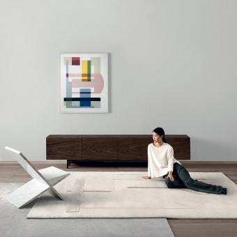 Tapis Composizione 74 par Manlio Rho 170x240 cm AMINI