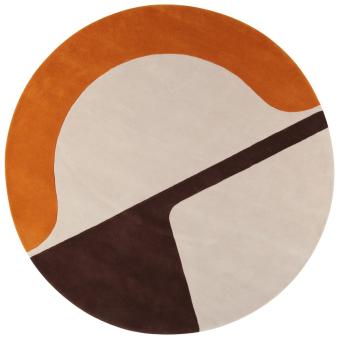 JC-7 Isola rug by Joe Colombo Green AMINI