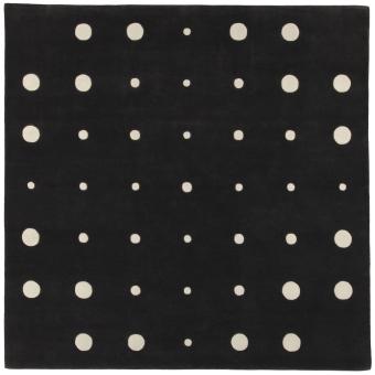 JC-4 Bubbles Black White rug by Joe Colombo 240x240 cm AMINI