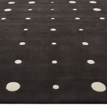 Tapis JC-4 Bubbles Black White par Joe Colombo 240x240 cm AMINI