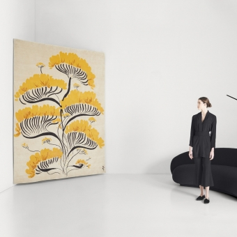 Valparaise rug by René Gruau White AMINI