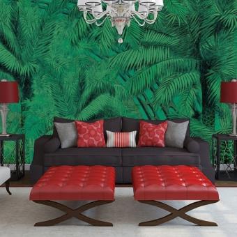 Jungle Green Panel 400x280 cm - 4 lés Maison Images d'Epinal
