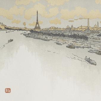 Panneau Point du Jour Aurore Etoffe.com x Agence Musées Nationaux