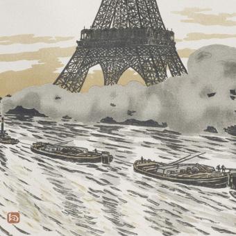 Les Péniches Panel Sépia Etoffe.com x Agence Musées Nationaux