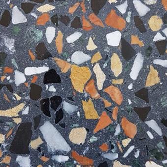 Aganippe 09 Terrazzo tile Slate Carodeco