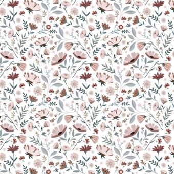 Fleurs de l'Océan Wallpaper Blush Lilipinso