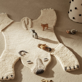 Animal Tufted Polar Bear Rug Natural Ferm Living