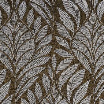Gustav Wallpaper Carbone/Métallisé Casamance