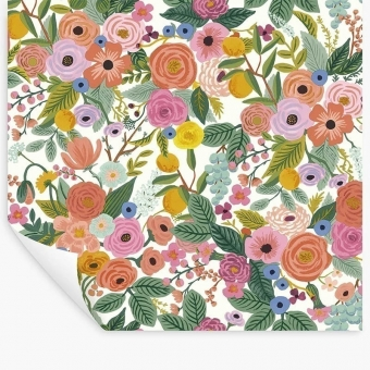 Papier peint repositionnable Garden Party Burgundy Multi Rifle Paper Co.