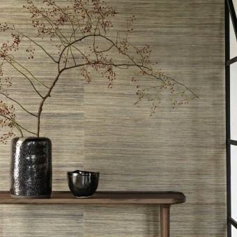Ramie Wall Covering Argent CMO Paris