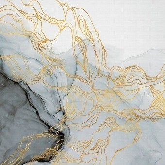 Aurora Borealis Panel Indigo Coordonné