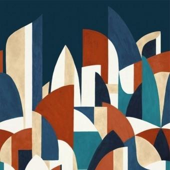 Pablo Panel Emeraude/Gris Casamance