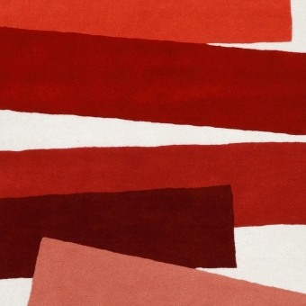 The Many Faces of Red by Josef Albers Rug 150x180 cm Christopher Farr