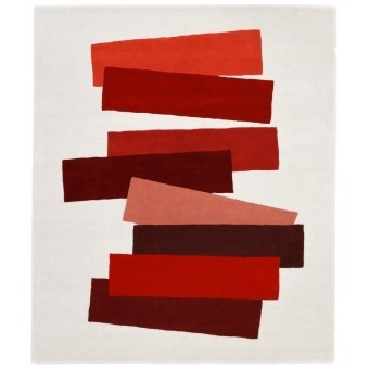 Tapis The Many Faces of Red par Josef Albers 150x180 cm Christopher Farr