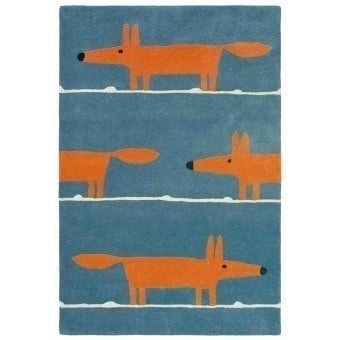 Mr Fox Denim Rug 90x150 cm Scion