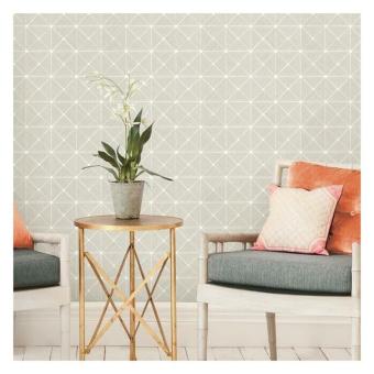 Double Diamonds peel & stick wallpaper Black York Wallcoverings