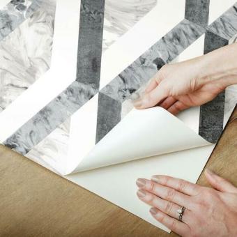 Statuary Diamond Inlay peel & stick wallpaper Gray York Wallcoverings