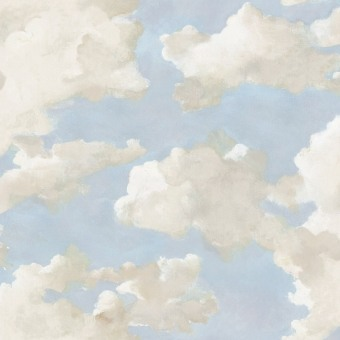 Clouds on Canvas peel & stick wallpaper Blue York Wallcoverings