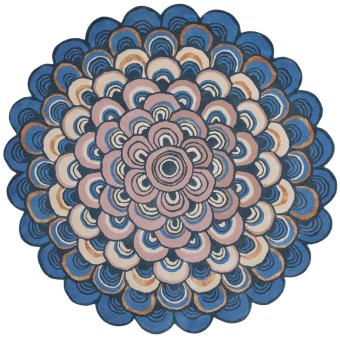 Masquerade Round Blue Rug Diamètre 150 cm Ted Baker