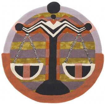 Zodiac Libra Rug diamètre 100 cm Ted Baker