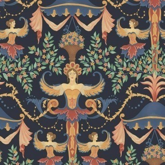 Papier peint Chamber Angels Cerulean Sky/Rouge/Marigold Cole and Son