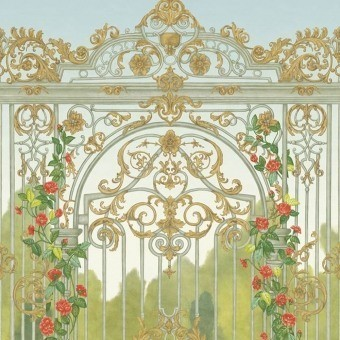 Panneau Tijou Gate Spring Green/Soft Olive/Rouge Cole and Son