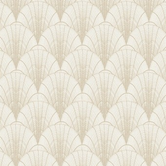 Scalloped Pearls Wallpaper Black/Gold York Wallcoverings