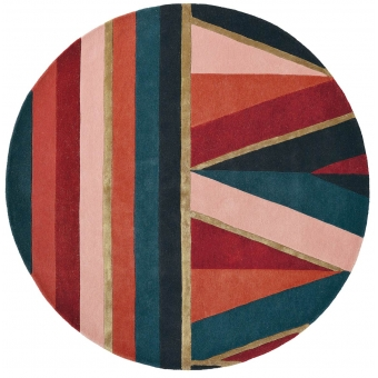 Sahara Burgundy Round Rug Diamètre 150 cm Ted Baker