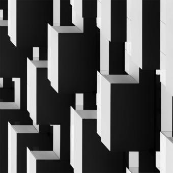 Balcony Geometry Panel Ombre Artwallz Paris