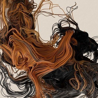 Panneau Lave de Volcan Orange/Noir Artwallz Paris